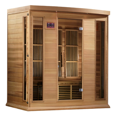 "Maxxus ""Chaumont Edition"" 4 Person Near Zero EMF FAR Infrared Sauna - Canadian Red Cedar"