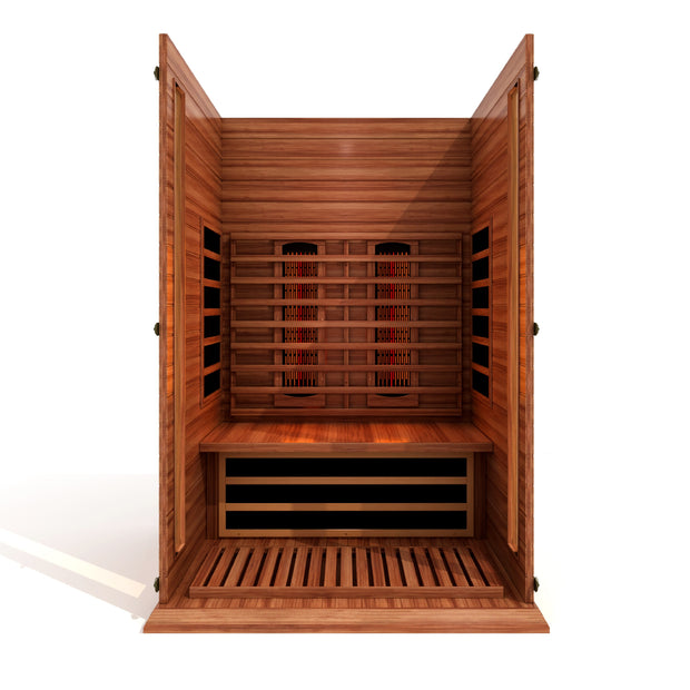 ***New 2021 Model*** Maxxus 2 Person Full Spectrum Infrared Sauna - Canadian Red Cedar