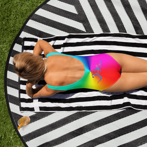 Rainbow Chakra One-Piece Swimsuit