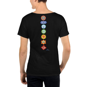 Sacral Chakra Men's Raw Neck Tee