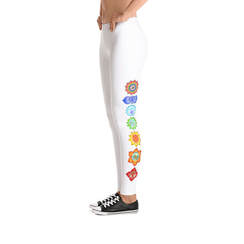 Image of Chakra Leggings - White