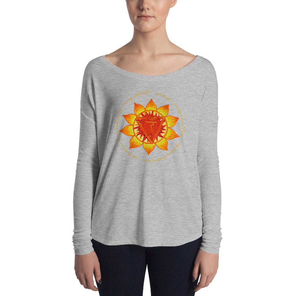 Ladies' Long Sleeve Solar Plexus Tee