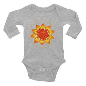 Infant Long Sleeve Solar Plexus Chakra Bodysuit