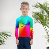 Rainbow Chakra Kids Rash Guard