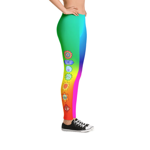 Image of Chakra Leggings - Rainbow