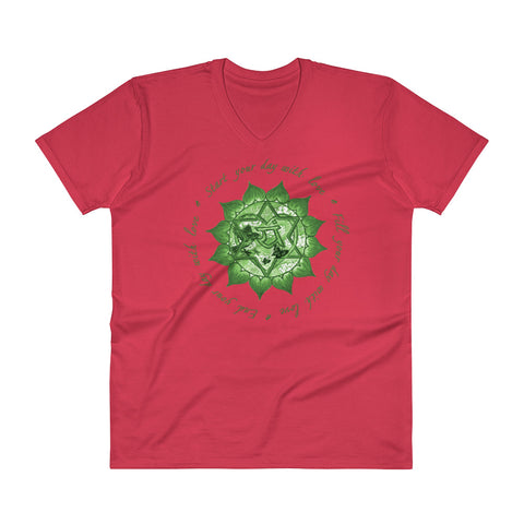 Image of Heart Chakra -V-Neck T-Shirt