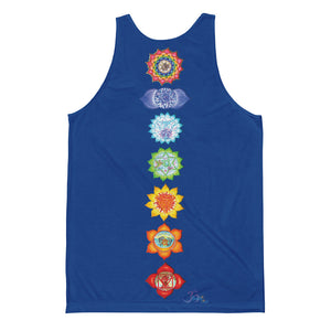 Sacral Mens Blue Tank Top