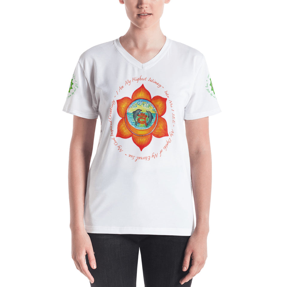 Wear Your Heart On Your Sleeve Sacral Chakra V-neck