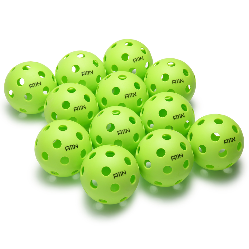 A11N SPORTS Sporting Goods > Outdoor Recreation > Outdoor Games > Pickleball > Pickleballs Premium 26 Holes Indoor Pickleball Balls - 12 Pack