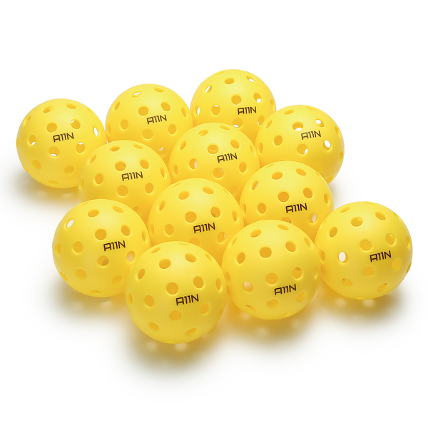 A11N SPORTS Sporting Goods > Outdoor Recreation > Outdoor Games > Pickleball > Pickleballs Premium 40 Holes Outdoor Pickleball Balls - 12 Packs