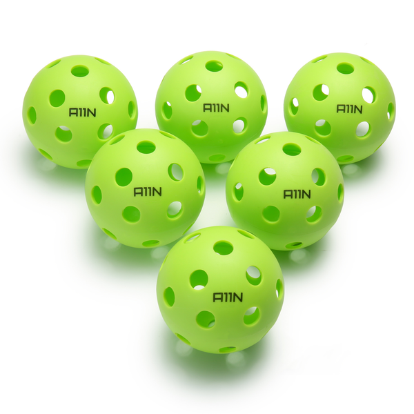 A11N SPORTS Sporting Goods > Outdoor Recreation > Outdoor Games > Pickleball > Pickleballs Premium 26 Holes Indoor Pickleball Balls - 6 Pack