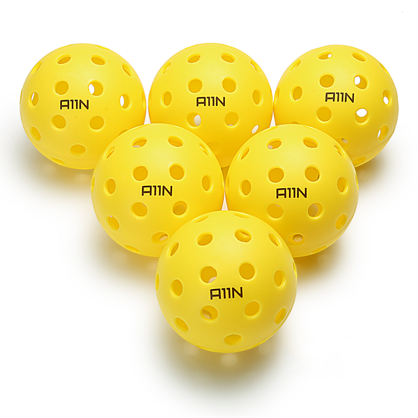 A11N SPORTS Sporting Goods > Outdoor Recreation > Outdoor Games > Pickleball > Pickleballs Premium 40 Holes Outdoor Pickleball Balls - 6 Packs