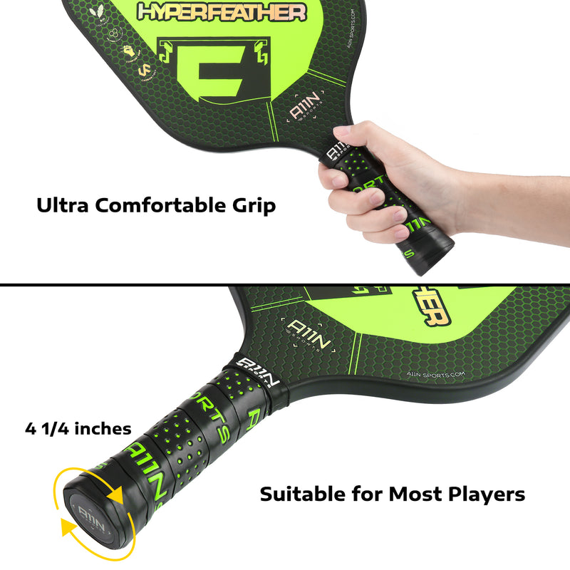 A11N SPORTS Sporting Goods > Outdoor Recreation > Outdoor Games > Pickleball 22ft Net Pickleball Bundle Set with 2 Graphite Paddles 16 Balls Combo