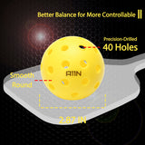 Premium 40 Holes Outdoor Pickleball Balls(6 &12 Packs Available)- Bright Yellow