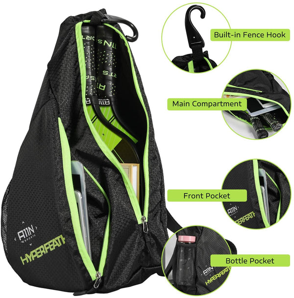 A11N SPORTS Sporting Goods > Outdoor Recreation > Outdoor Games > Pickleball Pickleball Bag- Reversible Crossbody Sling Backpack
