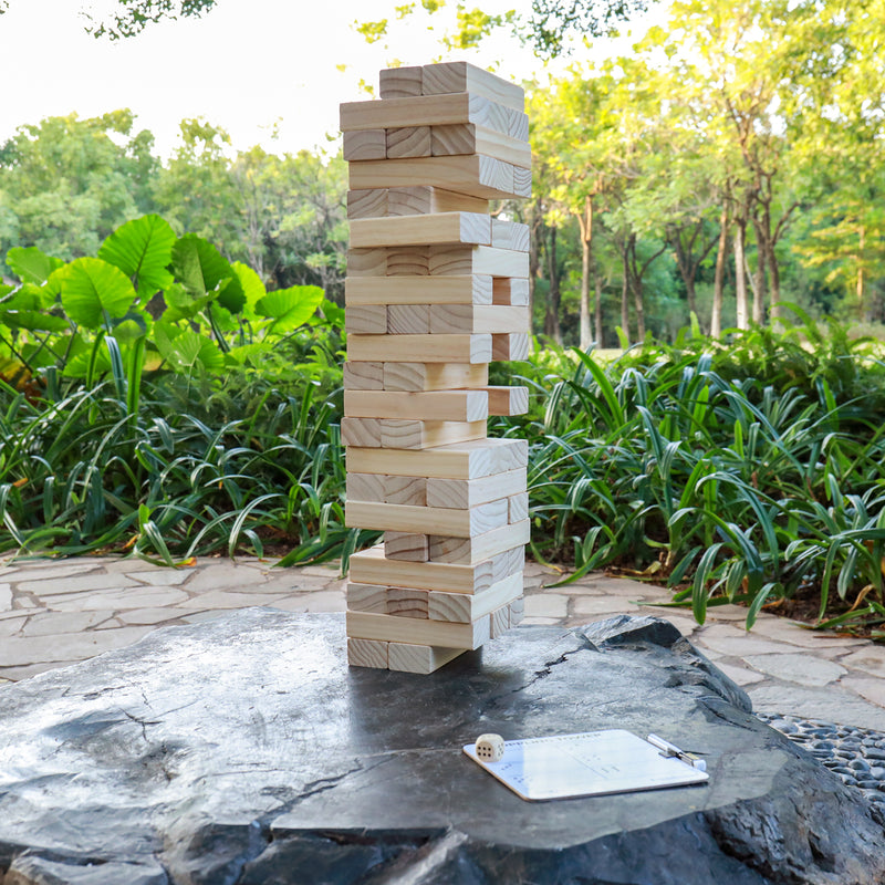 A11N SPORTS Sporting Goods > Outdoor Recreation > Outdoor Games > Lawn Games Friendswood Tumbling Tower Game - Giant Size Builds to 5 Feet