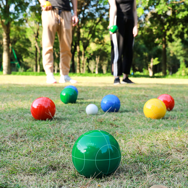 A11N SPORTS Sporting Goods > Outdoor Recreation > Outdoor Games > Lawn Games 90mm Backyard Size Bocce Ball Game Set