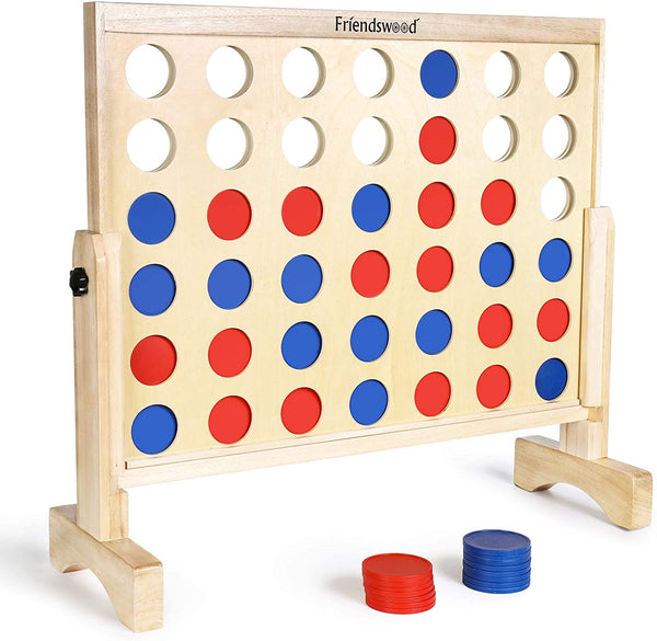 A11N SPORTS Sporting Goods > Outdoor Recreation > Outdoor Games > Lawn Games Friendswood Connect 4 in a Row Game, 26 x 24 inch Board