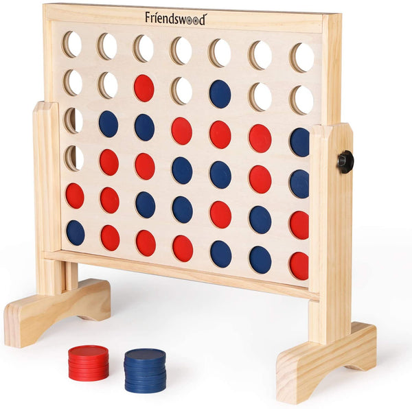 A11N SPORTS Sporting Goods > Outdoor Recreation > Outdoor Games > Lawn Games Friendswood Connect 4 in a Row Game, 20 x 20 inch Board