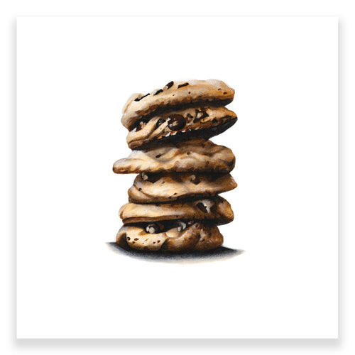 STACK OF COOKIES (WHITE)