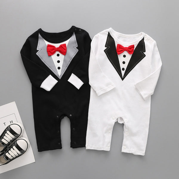 03fed5bec364 So Handsome Collection- Holiday Baby Boy Tuxedo Bow Tie Onesie ...