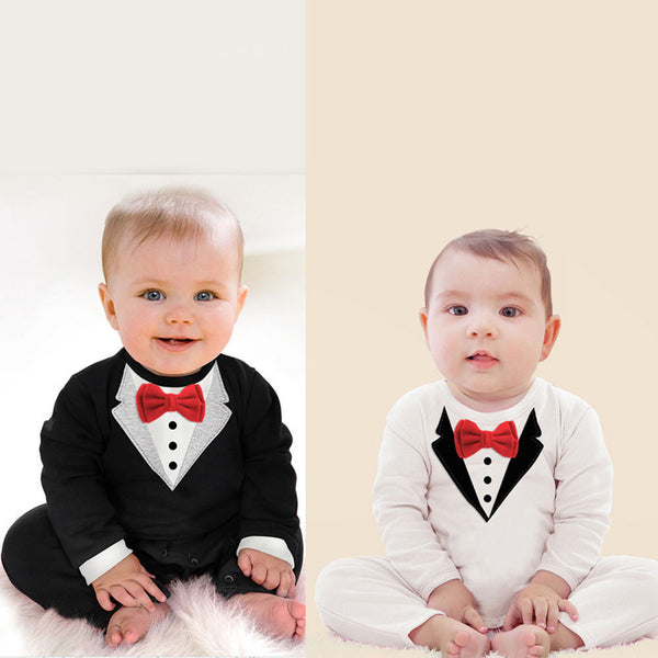 98d1aa431b78e So Handsome Collection- Holiday Baby Boy Tuxedo Bow Tie Onesie ...