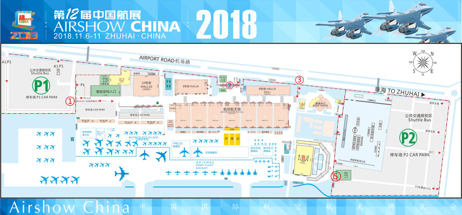 SITE DRAWING of ZHUHAI AIRSHOW CHINA 2018