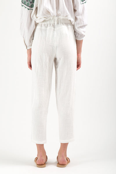 A.Cheng / Yogi Pants in White Cotton