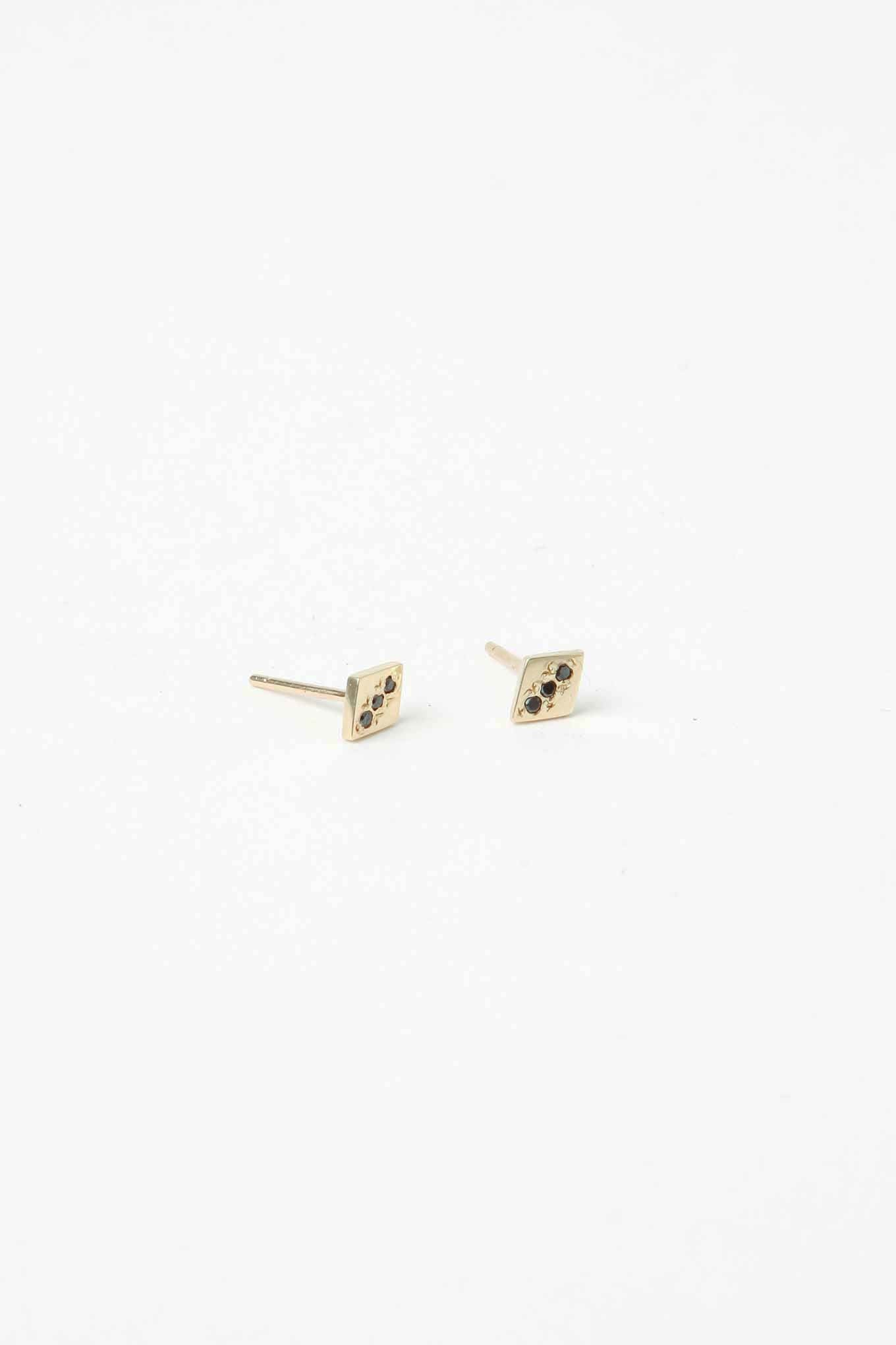 Black Diamond Rhombus Studs