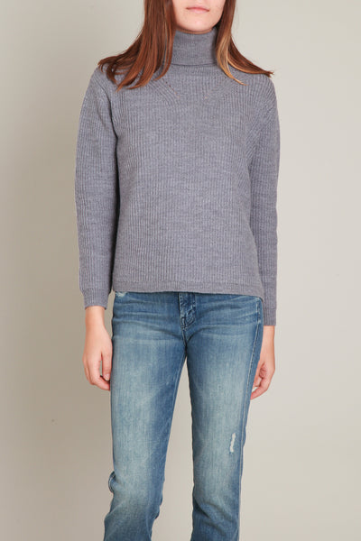 A. Cheng / Cherie Turtleneck in Heather Grey