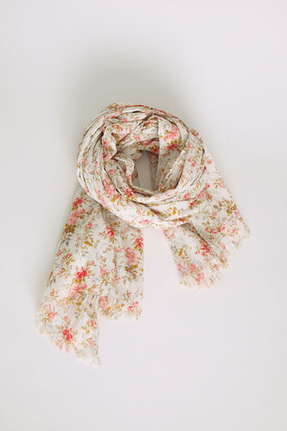 Rose Floral Cotton Scarf