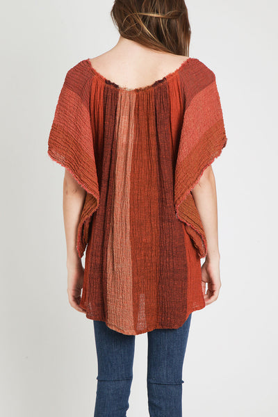 Masscob Crinkle Tunic Top