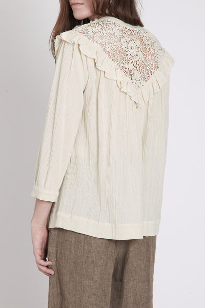 Masscob / Natural Gauze Crochet Top