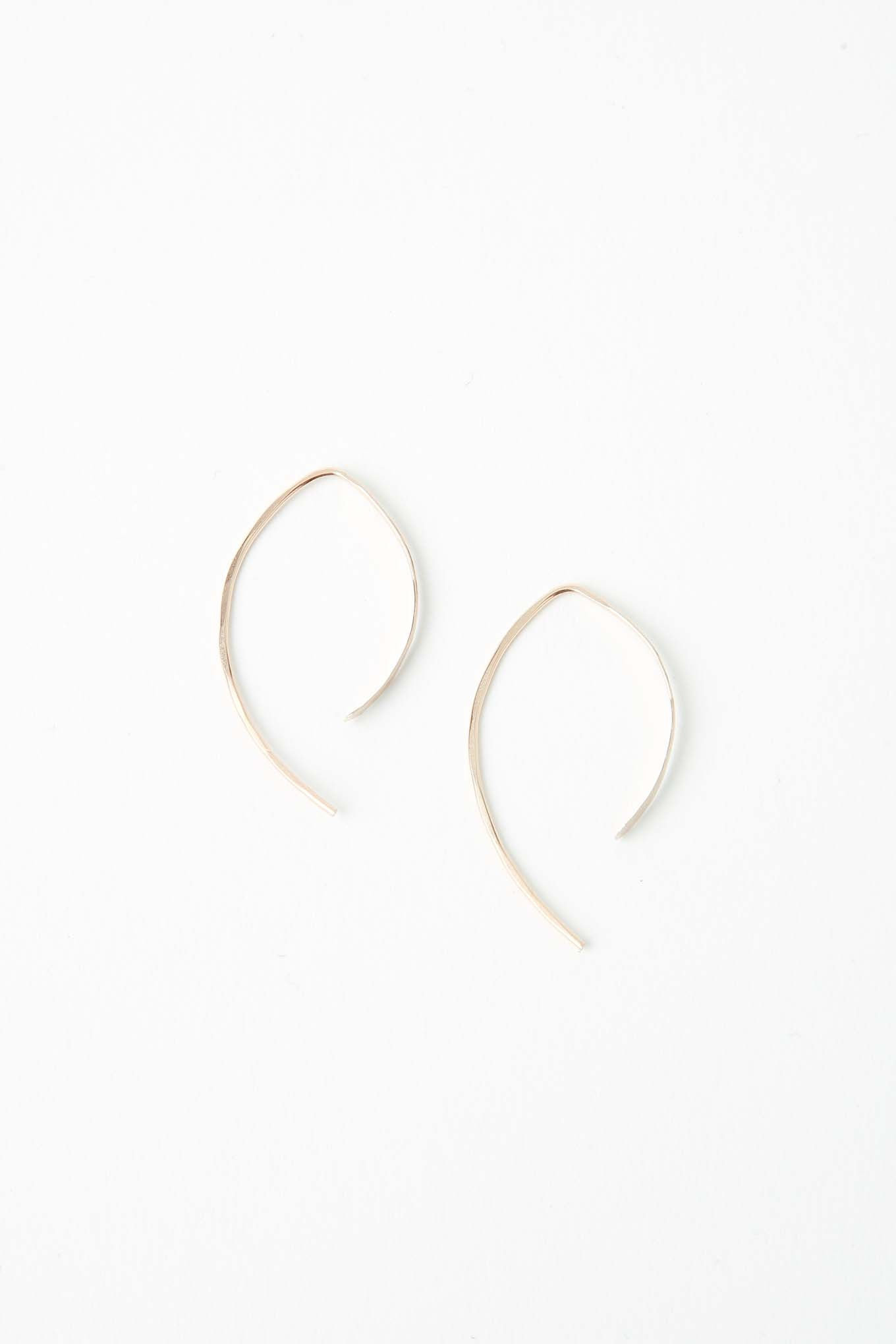 "Melissa Joy Manning / 1"" Wishbone Hoops"