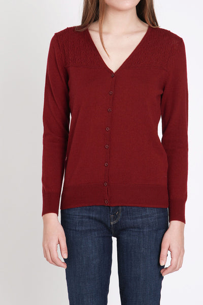 A. Cheng / Paloma Cardi in Burgundy