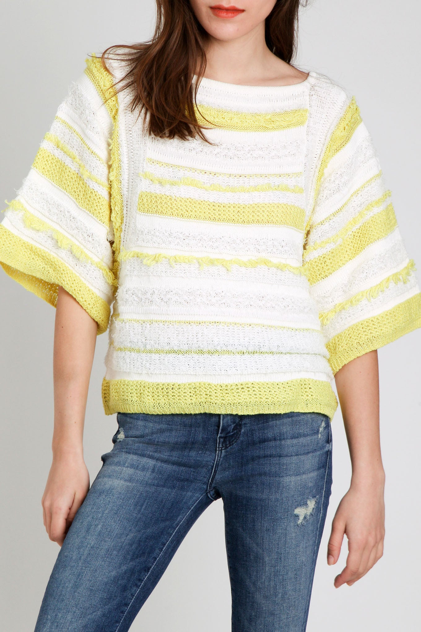 Sita Murt / Yellow & White Sweater