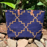 Napa Weekender Tote - Navy and Gold