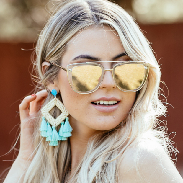Teal Cabana Earrings