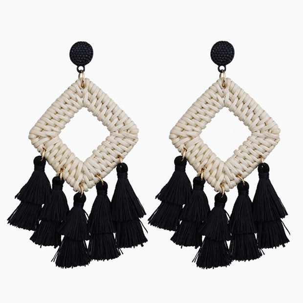 Black Cabana Earrings