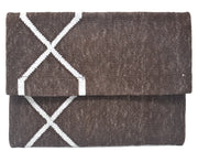 Mojito Clutch - Brown and Silver