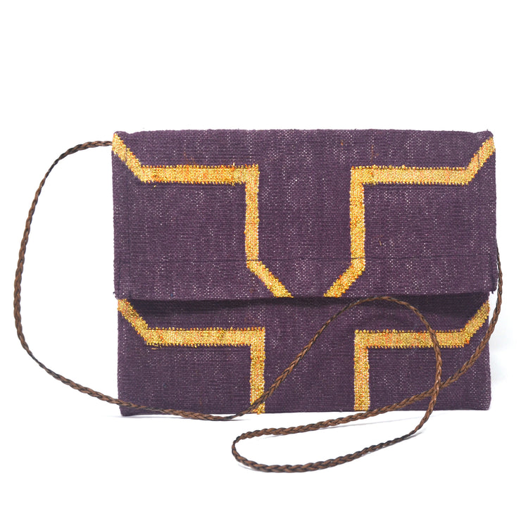 Mojito Clutch - Purple and Gold