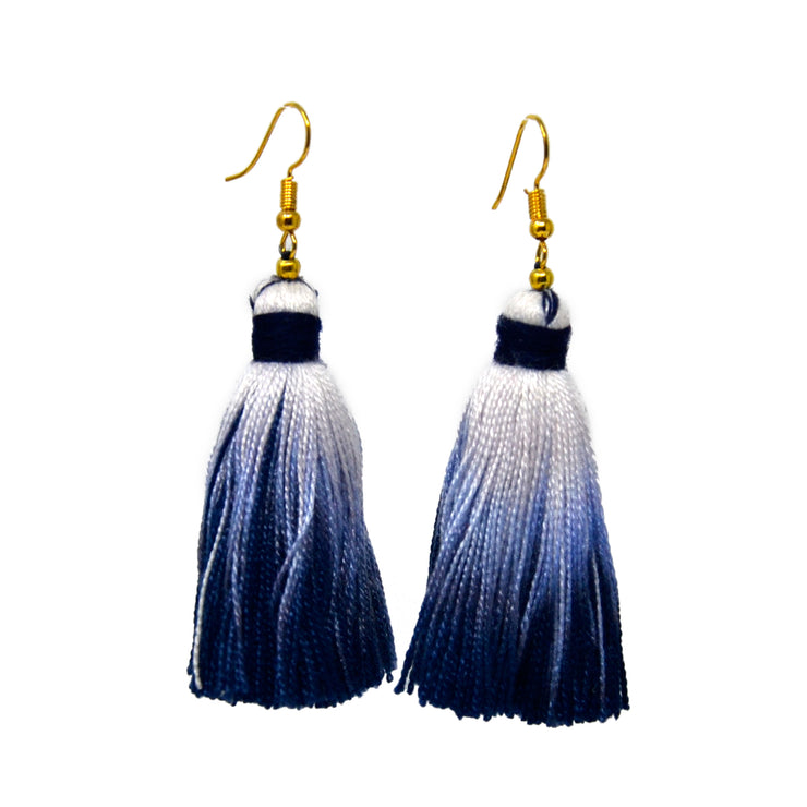 Ombre Drop Tassel Earrings
