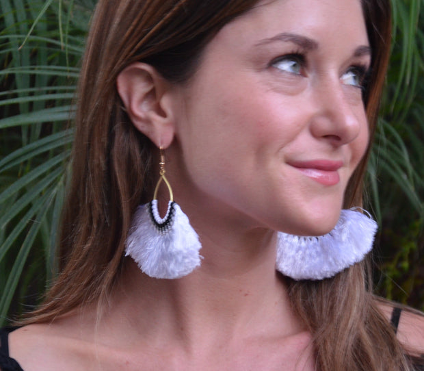 White Havana Earrings