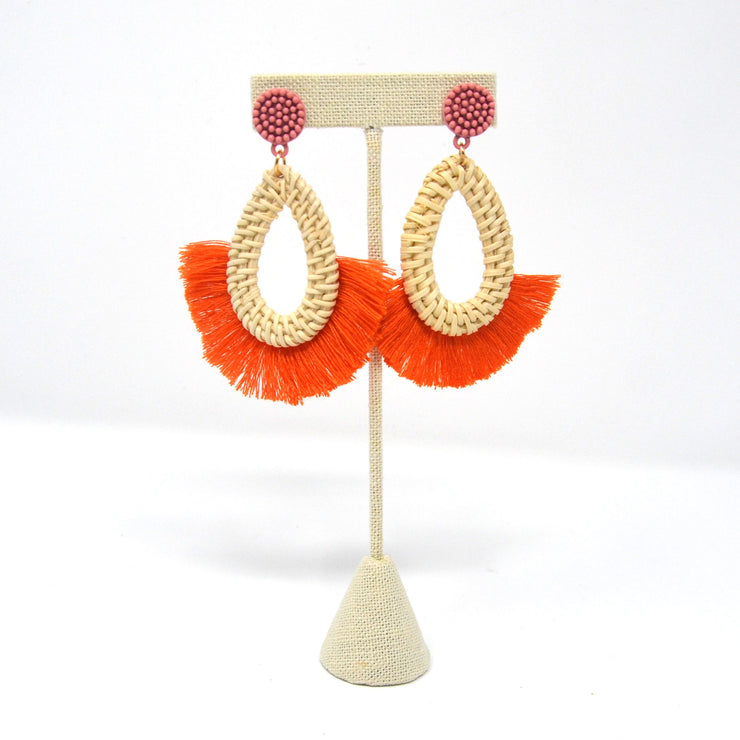 Orange Topanga Earrings