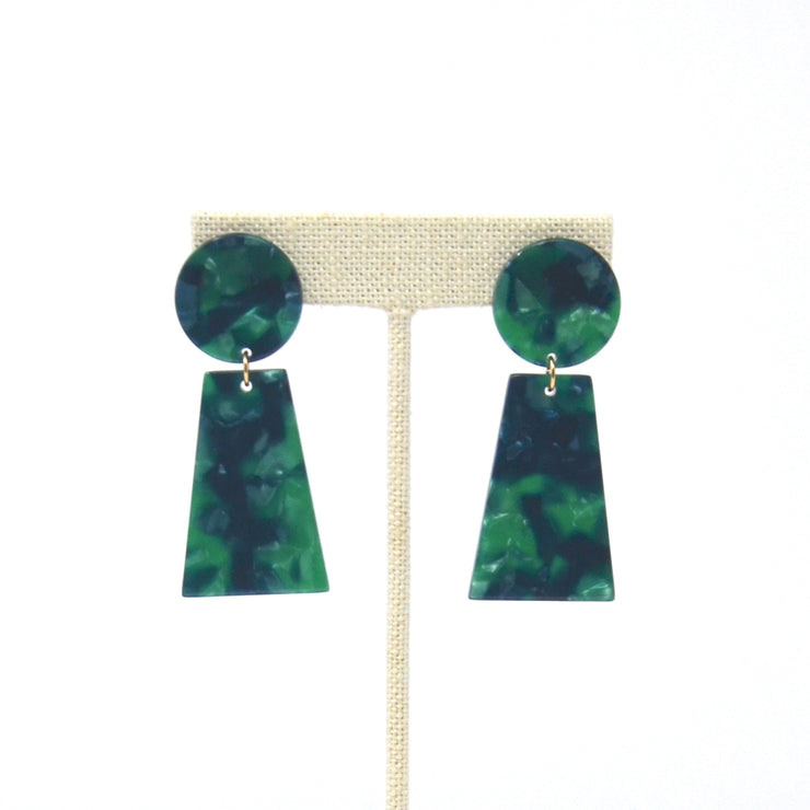 Emerald Bay Tortoise Earrings