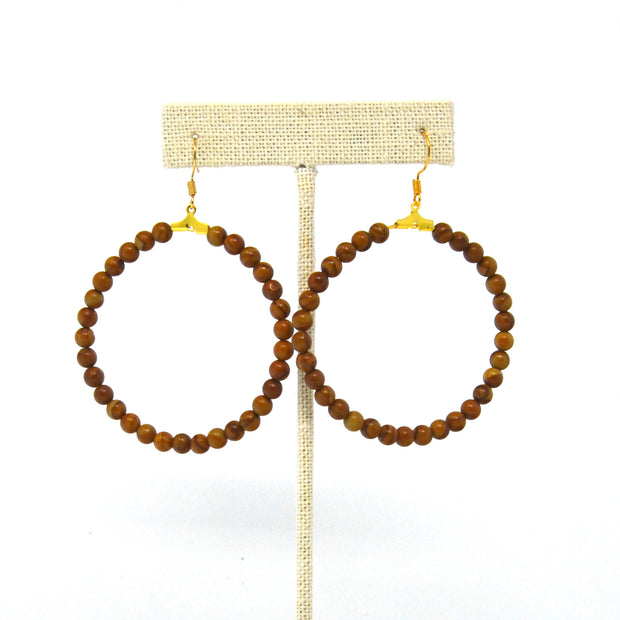 Woody Hoop Earrings