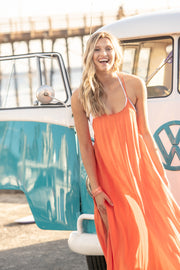 Seychelles Maxi Coverup in Orange