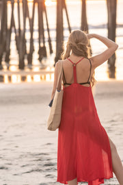 Seychelles Maxi Coverup in Red