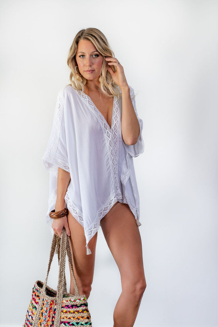 Sayulita Beach Shirt - White
