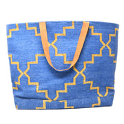 Napa Weekender Tote - Blue and Gold